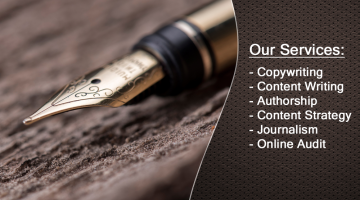 LegalContentAuthors.com services with a professional writing pen on a wood desktop